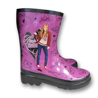 Disney Hannah Montana Girls Purple Rain Boots Shoes