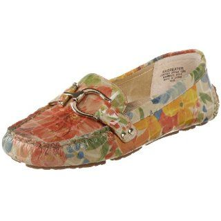 AK Anne Klein Womens Greater Flat,Yellow Multi Floral,6 M US Shoes