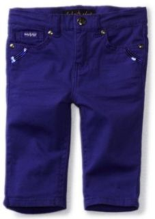 Baby Phat   Kids Girls 2 6x Twill Skimmer, Purple, 5