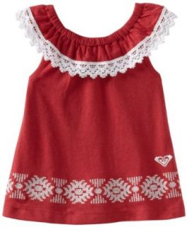 Roxy Kids Baby Girls Infant Dance Along Shirt, Sparrow Red