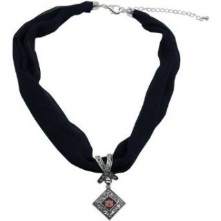 NCAA Auburn Tigers Scarf Necklace with Pendant   Navy Blue