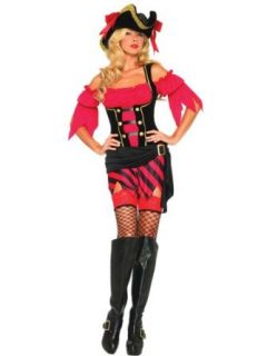Buccaneer Red Pirate Costume Womens Theatre Costumes Red