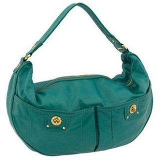 Jacobs Totally Turnlock Mevie Top Zip Shoulder Hobo Bag Sage Shoes