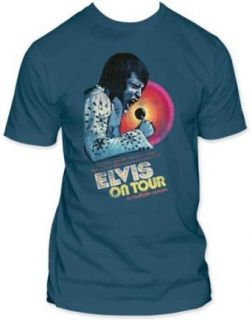 Mens Elvis Presley Multiple Screen Hawaii Fitted Jersey T