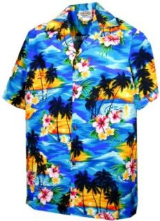 Sunset Palm Hawaiian Shirts   Mens Hawaiian Shirts   Aloha