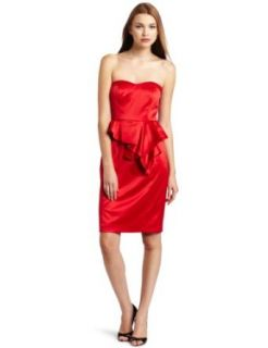 Jessica Simpson Womens Strapless Dress with Front Peplum