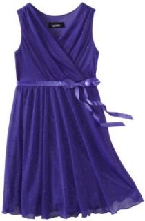 Amy Byer Girls 7 16 Glitter Sleeveless Pleat Empire Dress
