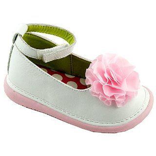 Girls White Ankle Strap Peony Dress Shoes 3 12 Wee Squeak Shoes