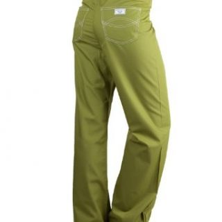Large Olive Green Designer Nursing Scrub Pants Clothing