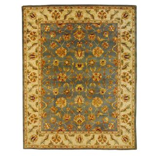 Indo Mahal Light Blue/ Ivory Rug (73 x 93)