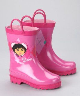 Dora the Explorer Girls Pink Rain Boots (Toddler/Little Kid) Shoes