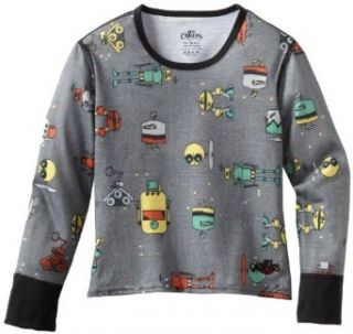 Hot Chillys Kids Mid Weight Print Crewneck Shirt Sports