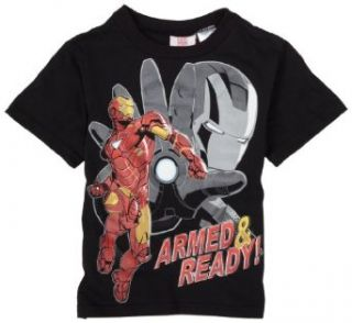 Boys 2 7 Iron Man T Shirt,Black,5 Clothing