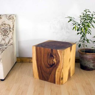 Wooden Cube 18 Tung Oil End Table (Thailand)