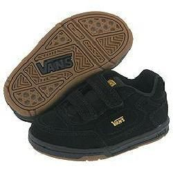 Vans Kids Emory V (Infant/Toddler) Black/Spectra Y(Size 4.5 Infant M