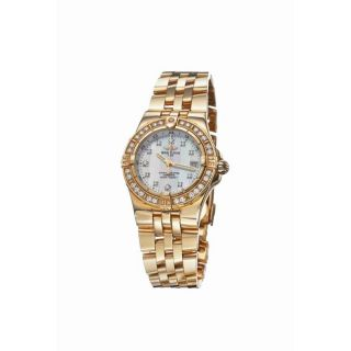 Breitling Womens Starliner 18k Yellow Gold Diamond Watch