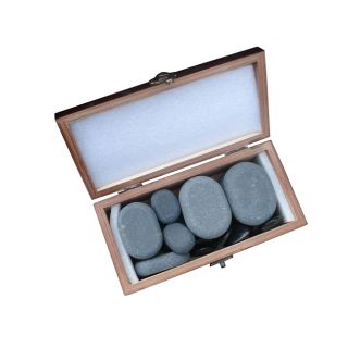 Basalt Lava 20 piece Hot Stone Massage Stones Kit