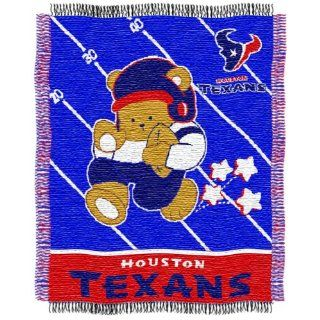 NFL Houston Texans Woven Jacquard Baby Throw Blanket