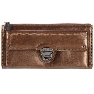 Kenneth Cole Reaction Bronze Leather Clutch Wallet