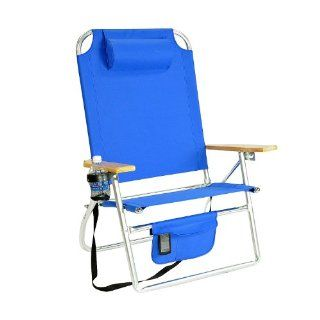 Extra Large   High Seat Heavy Duty Beach Chair w/ Drink