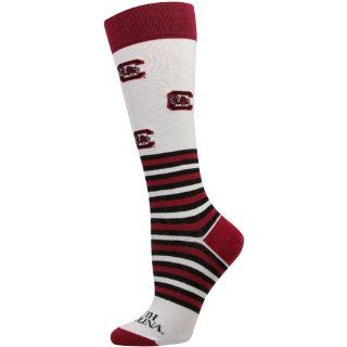 NCAA South Carolina Gamecocks Womens Striped Logo Knee