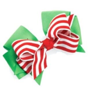 Mud Pie Little Girls Baby Bows for Hair (Candy Cane Bow