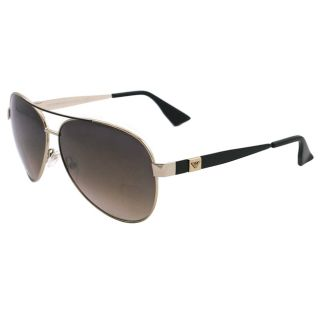 Emporio Armani Mens EA 9704 V8N Light Gold Metal Aviator Sunglasses