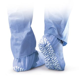 Medline Blue Non Skid X Large Disposable Shoe Covers (Case of 200
