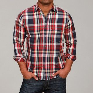 Canterbury of New Zealand Mens Plaid Shirt