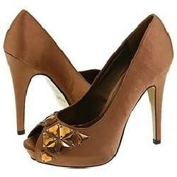 rsvp Neva Bronze Satin Pumps/Heels