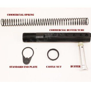 AR15 M4 COMMERCIAL STOCK BUFFER TUBE END PLATES KIT