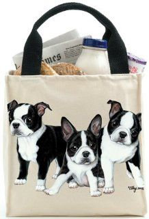 Boston Terrier Puppies (Dog)   Canvas Totes Shoes