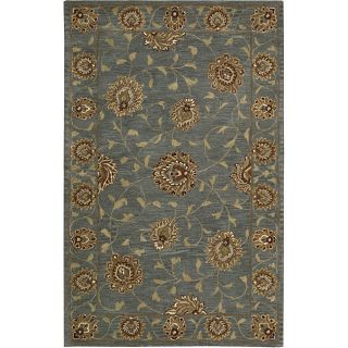 Hand tufted Caspian Blue Wool Rug (8 x 106)