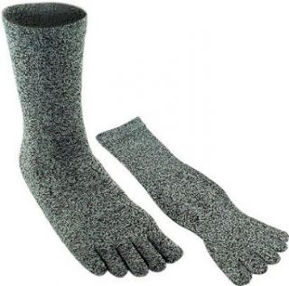 Adult Speckled Black & White Toe Socks Clothing