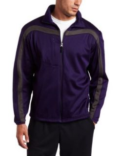 Antigua Mens Viper Full Zip Jersey Fleece Long Sleeve