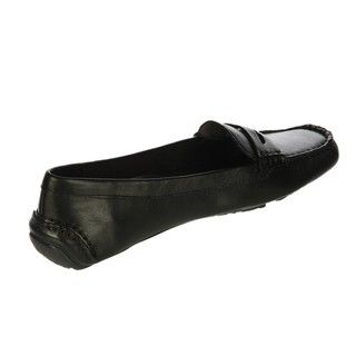 Anne Klein Womens Grefty Black Driving Loafers
