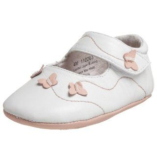 Infant/Toddler Swirley Crib Shoe,White Leather,3 M US Infant Shoes