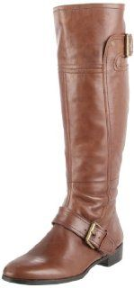 West Womens Vermillion Knee High Boot,Brown Leather,7.5 M US Shoes