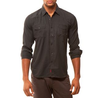 191 Unlimited Mens Slim Fit Woven Shirt