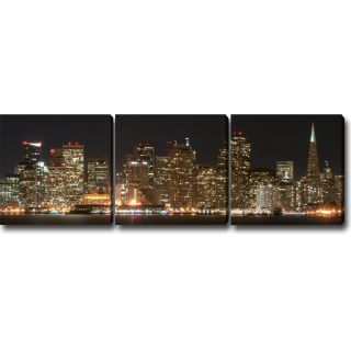 Night in San Francisco Canvas Art (Set of 3) Today $228.99 Sale $