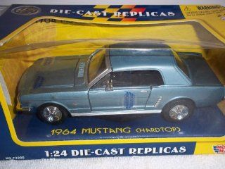 1964 Ford Mustang Diecast Car Model 1/24 Orange Hard Top