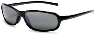 Maui Jim 107 02 Gloss Black Whitecap Wrap Sunglasses
