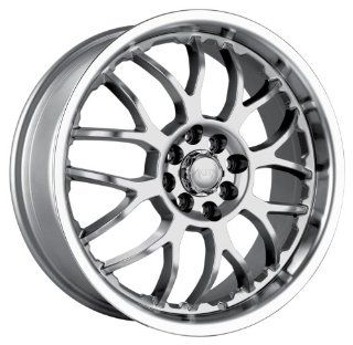 Akita Racing AK6 460 Hyper Silver Wheel with Machined Lip (17x7