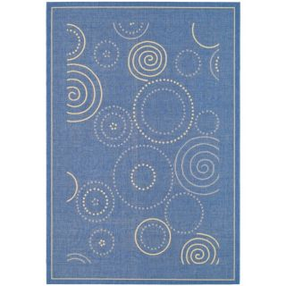 Poolside Blue/ Natural Indoor Outdoor Rug (9 x 12)