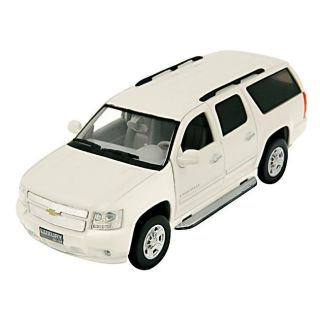 Chevrolet Suburban White Scale Die cast Model Car