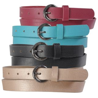 Kenneth Cole Reaction Womens Narrow Pebbled Finish Fashion Belt