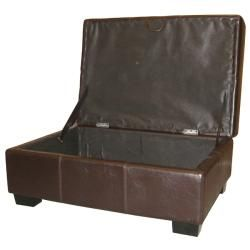 Valet Leather Look or Suede Storage Bench/ Ottoman