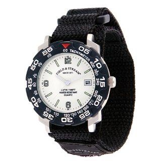 Field & Stream Mens 128GLVK Excursion Black Nylon Strap Watch