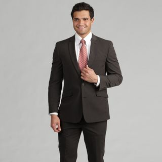 Kenneth Cole Reaction Mens Brown Slim Fit Suit
