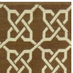 Handmade Thom Filicia Tioga Saddle Indoor/ Outdoor Rug (2 x 8